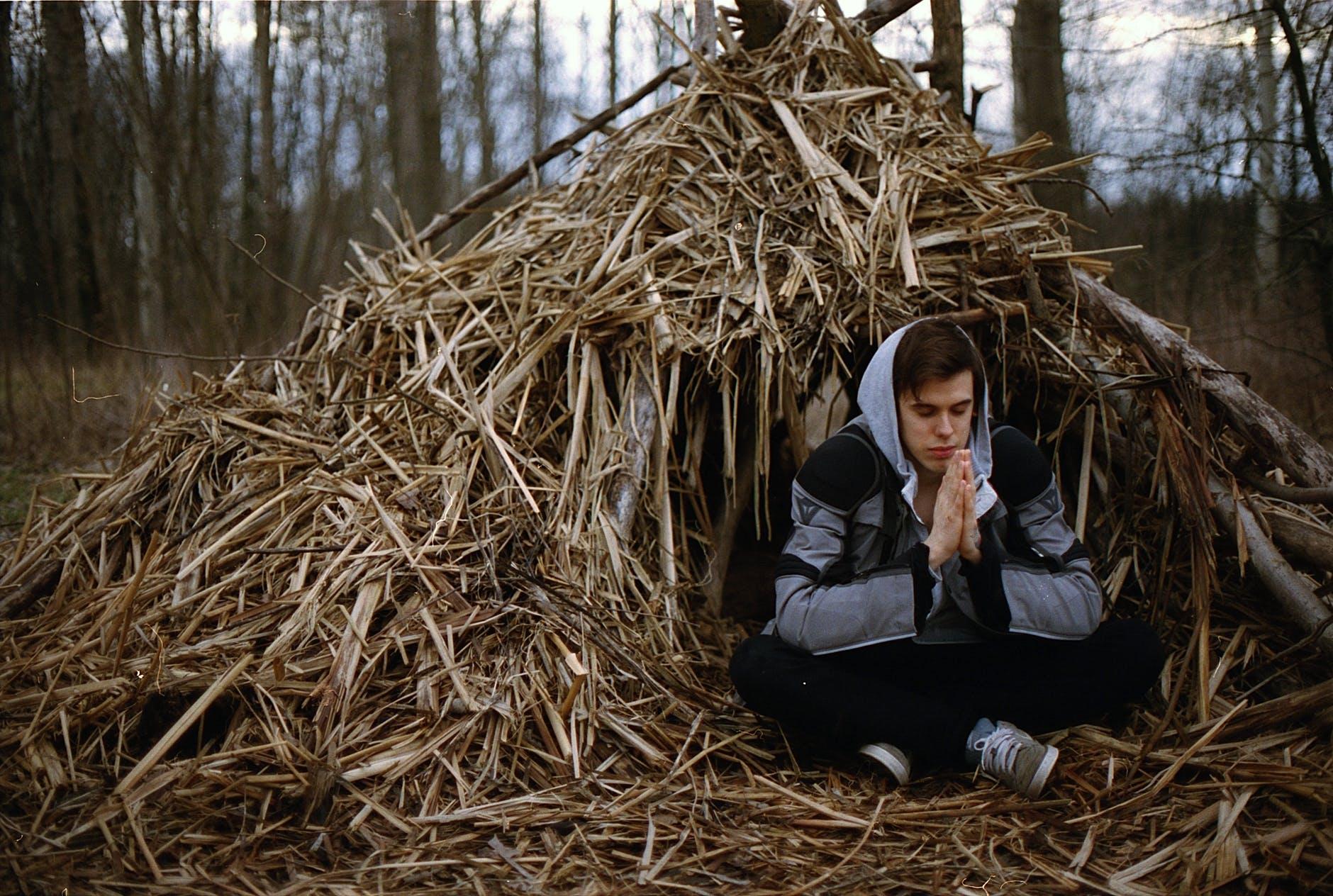 hay haystack meditate meditating